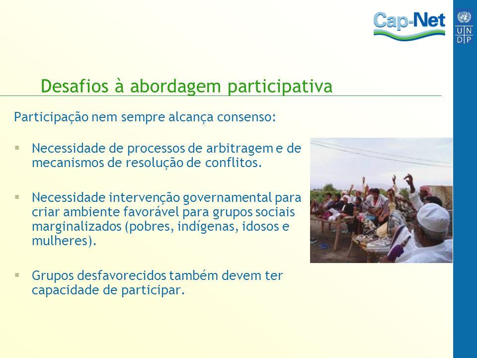 Desafios à abordagem participativa