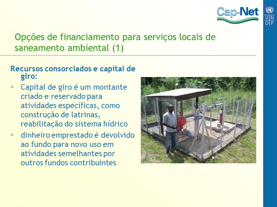 Opções de financiamento para serviços locais de saneamento ambiental (1)