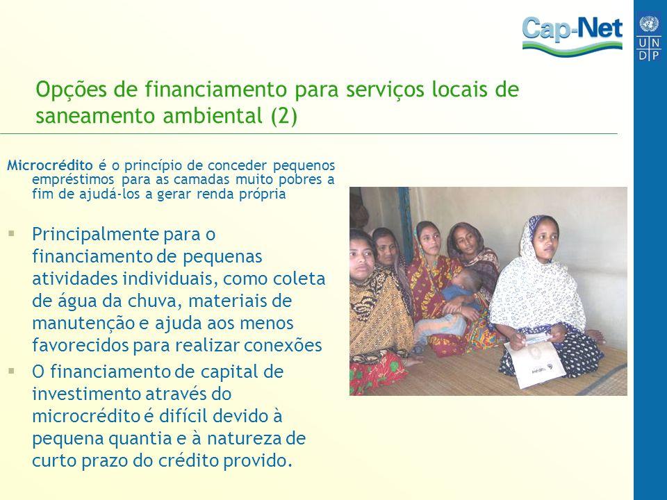 Opções de financiamento para serviços locais de saneamento ambiental (2)