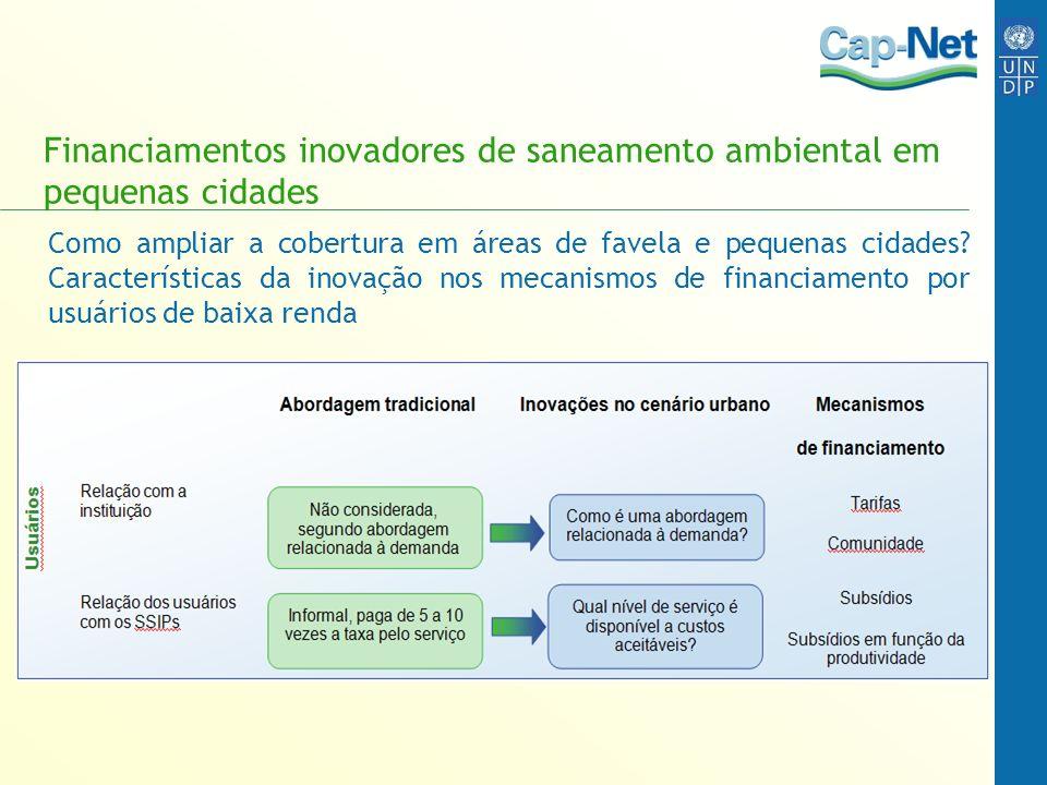 Financiamentos inovadores de saneamento ambiental em pequenas cidades