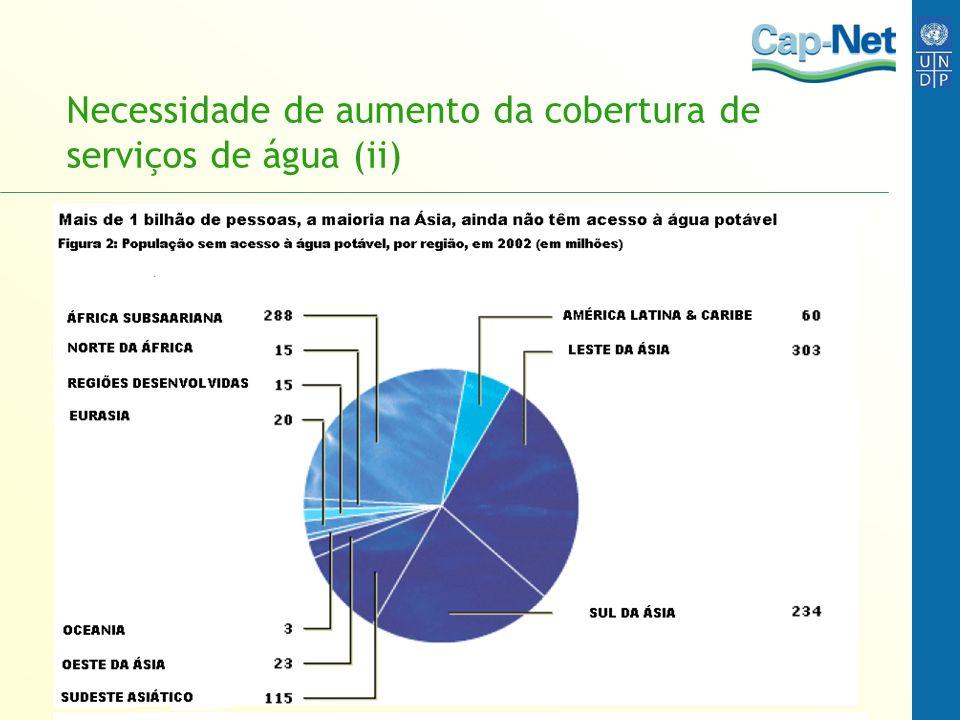 Necessidade de aumento da cobertura de serviços de água (ii)