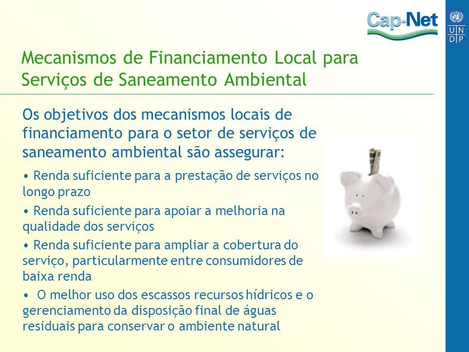 Mecanismos de Financiamento Local para Serviços de Saneamento Ambiental