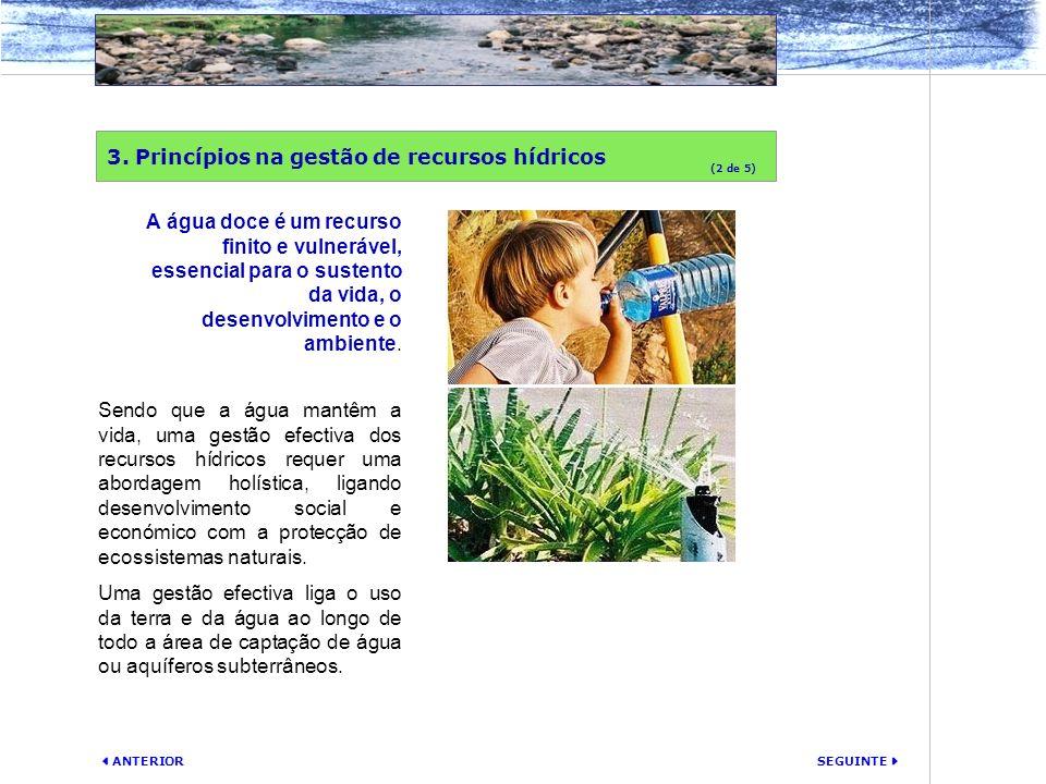 3. Princípios na gestão de recursos hídricos