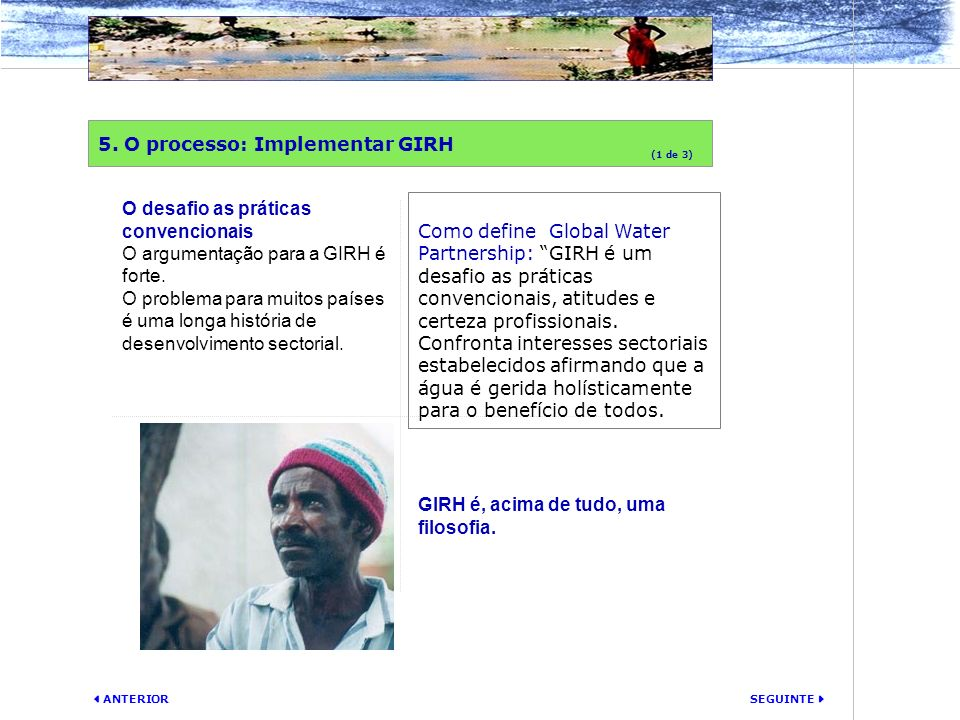 5. O processo: Implementar GIRH
