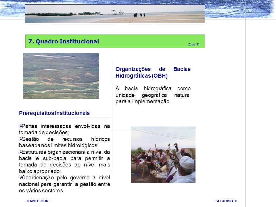 Organizações de Bacias Hidrográficas (OBH)