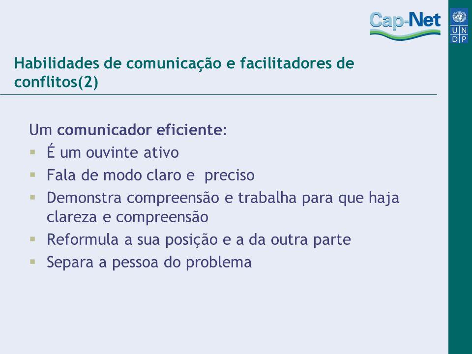 Habilidades de comunicação e facilitadores de conflitos(2)