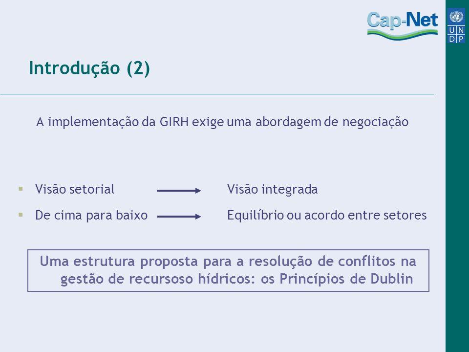 A implementação da GIRH exige uma abordagem de negociação