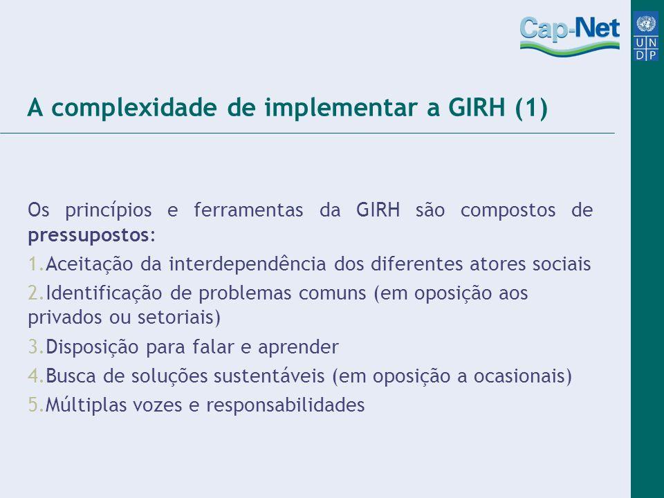 A complexidade de implementar a GIRH (1)