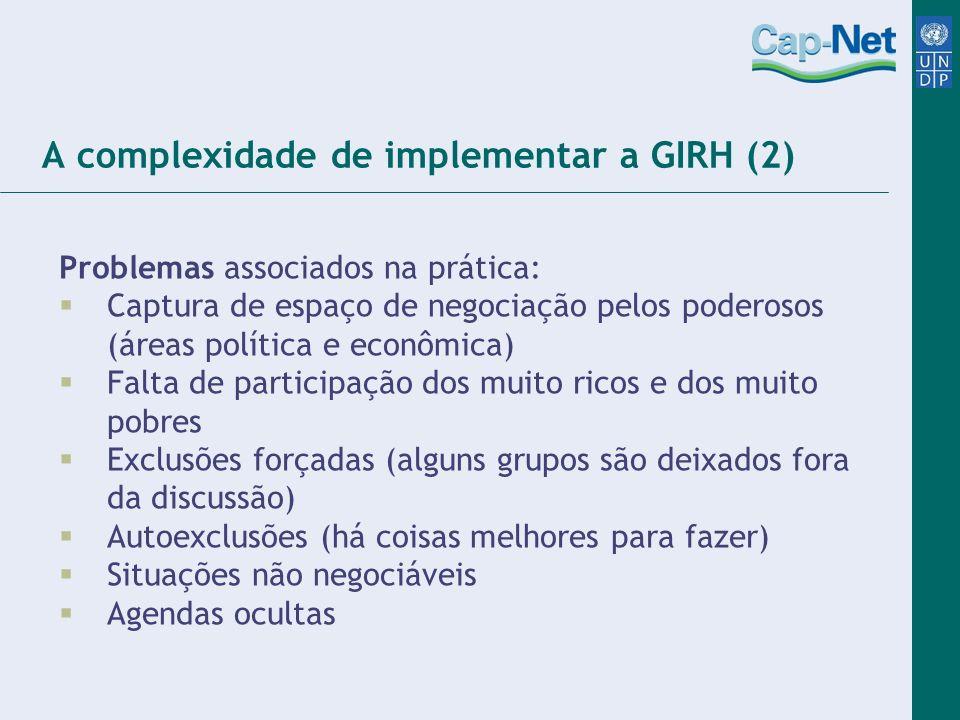 A complexidade de implementar a GIRH (2)