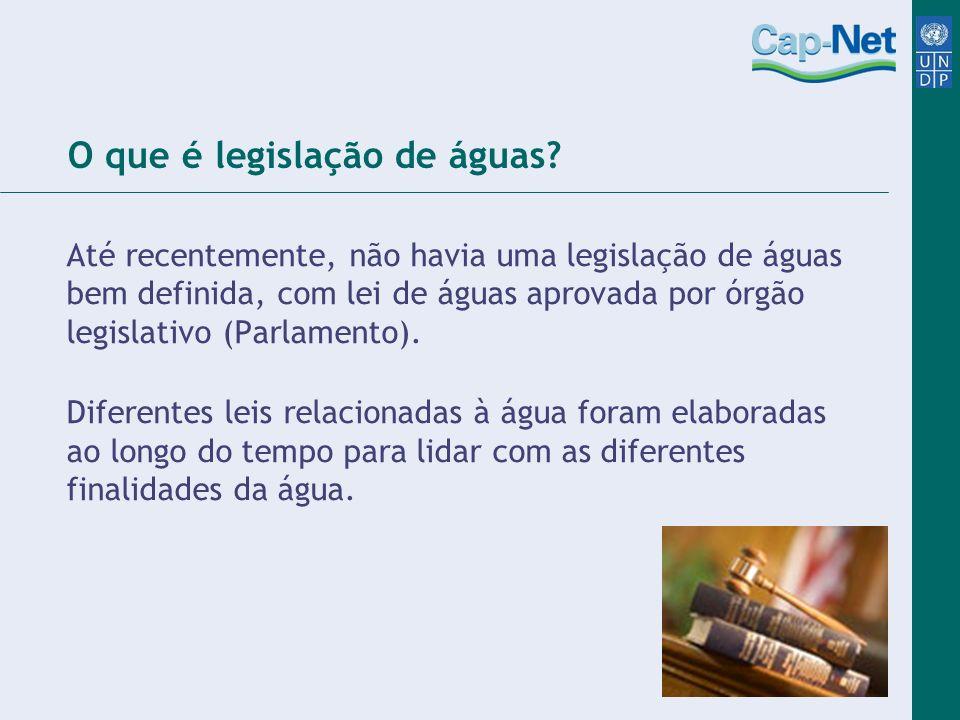 O que é legislação de águas