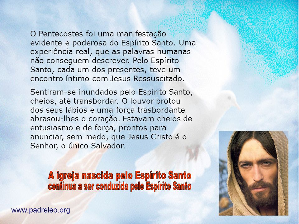 A igreja nascida pelo Espírito Santo