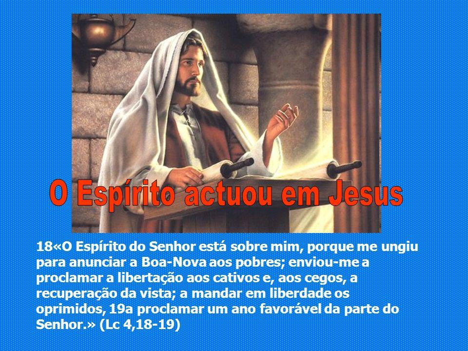 O Espírito actuou em Jesus