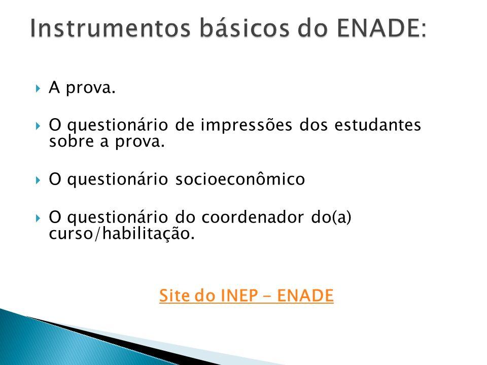 Instrumentos básicos do ENADE: