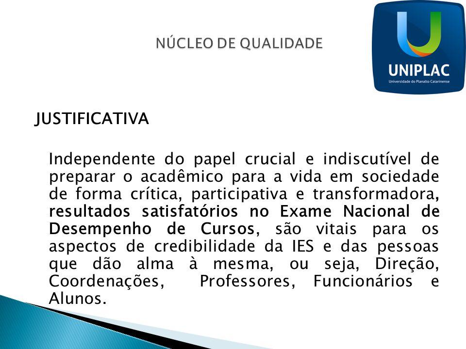 NÚCLEO DE QUALIDADE JUSTIFICATIVA.