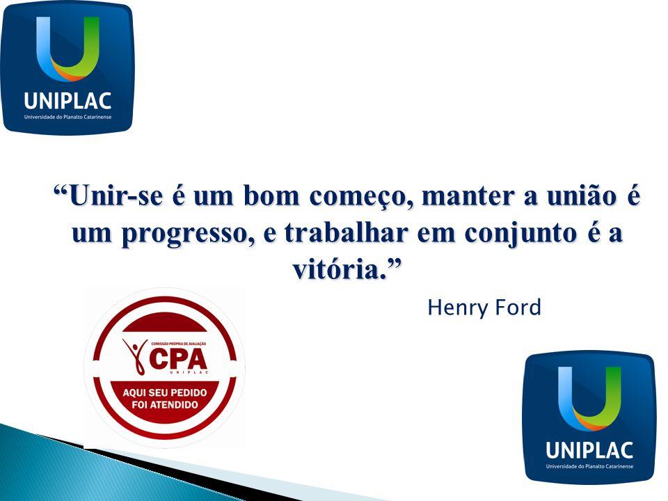 Unir-se é um bom começo, manter a união é um progresso, e trabalhar em conjunto é a vitória.