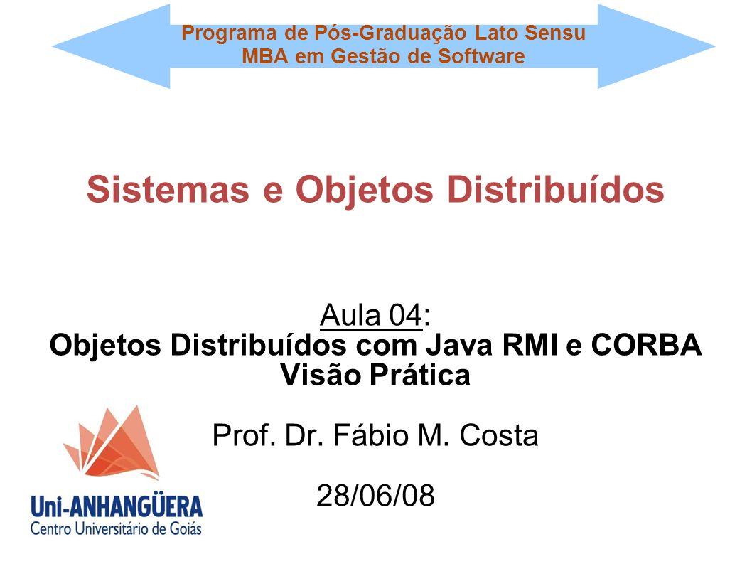 Programa de Pós-Graduação Lato Sensu MBA em Gestão de Software