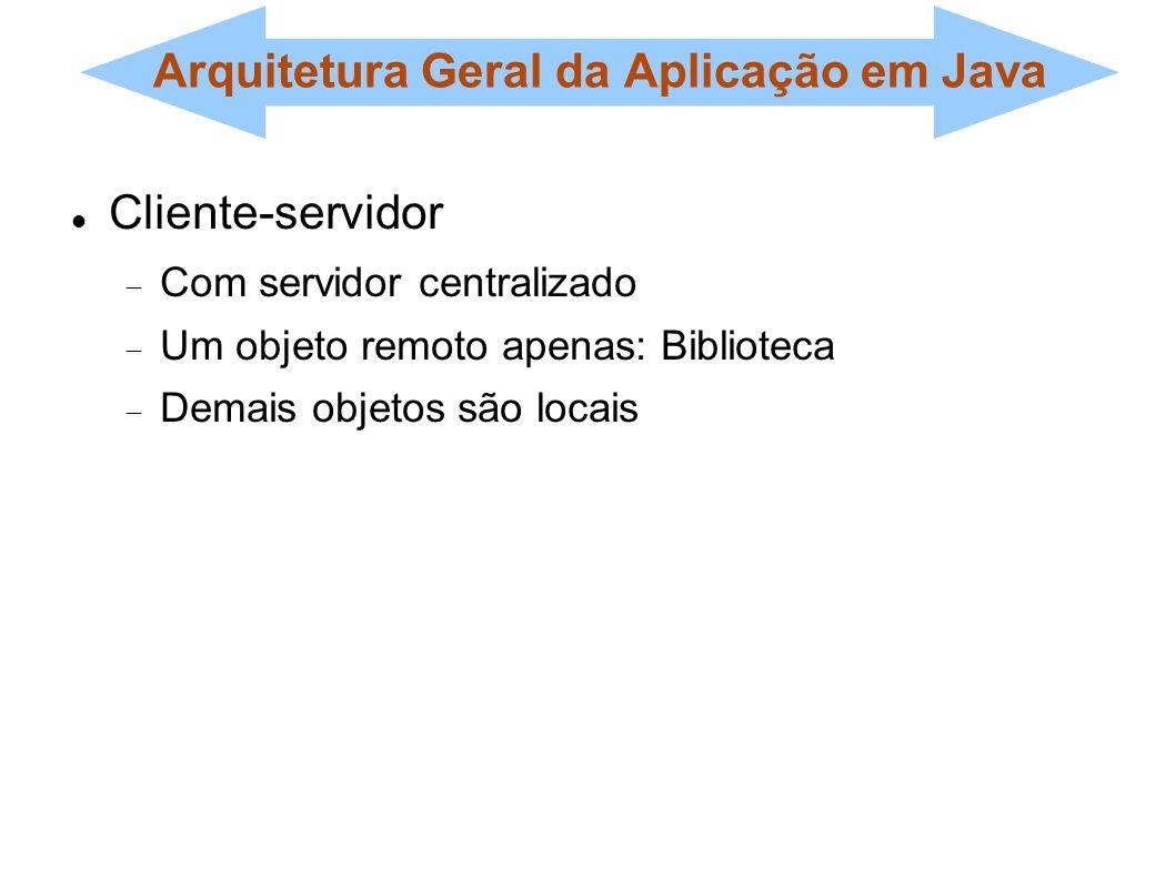 Arquitetura Geral da Aplicação em Java