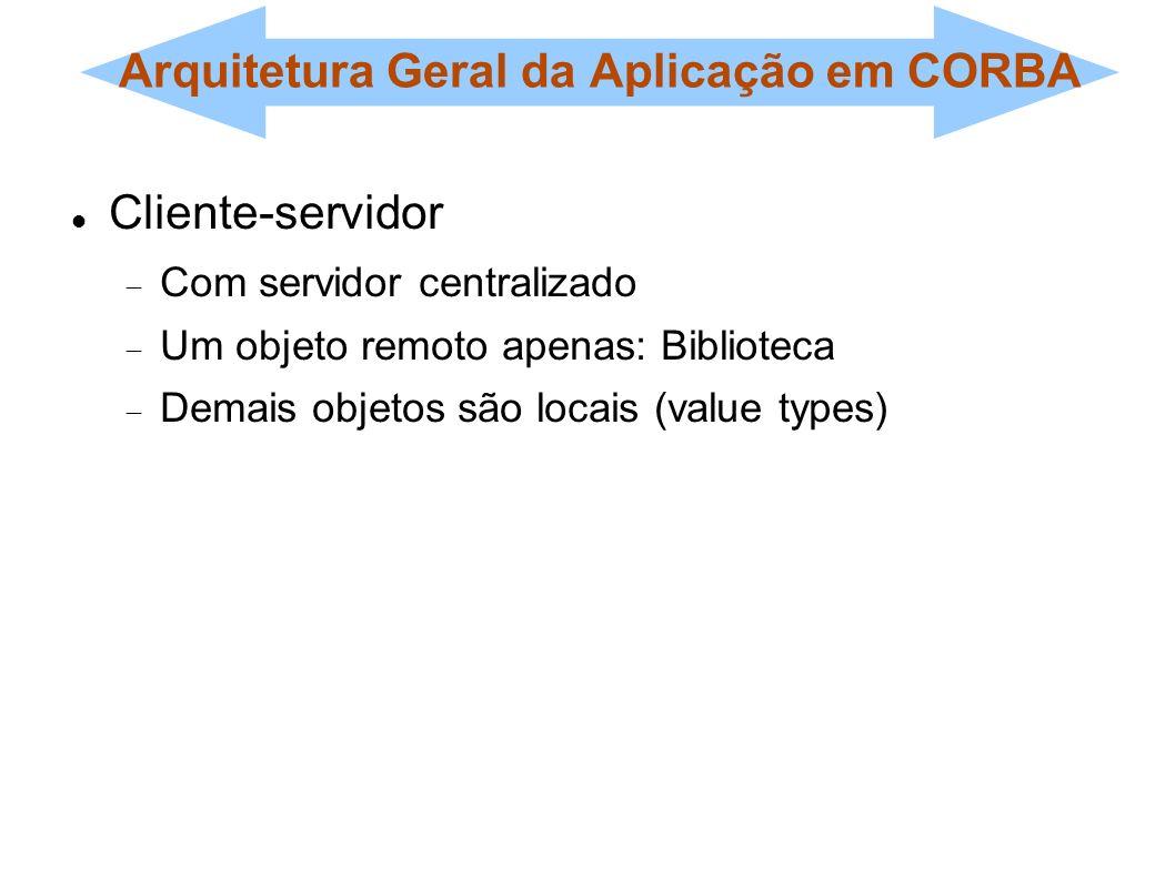 Arquitetura Geral da Aplicação em CORBA