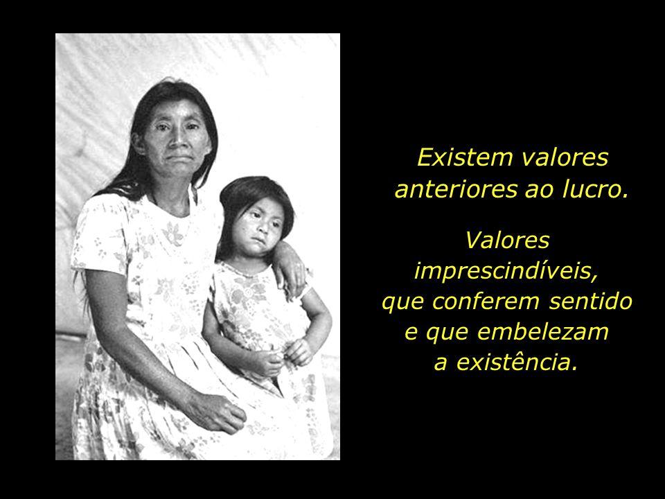 Existem valores anteriores ao lucro.