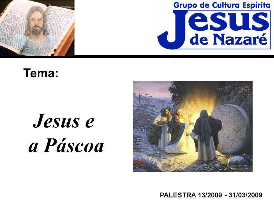Tema: Jesus e a Páscoa PALESTRA 13/2009 - 31/03/2009