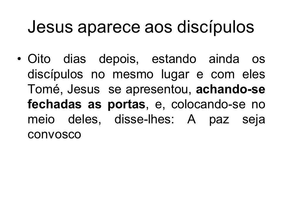 Jesus aparece aos discípulos