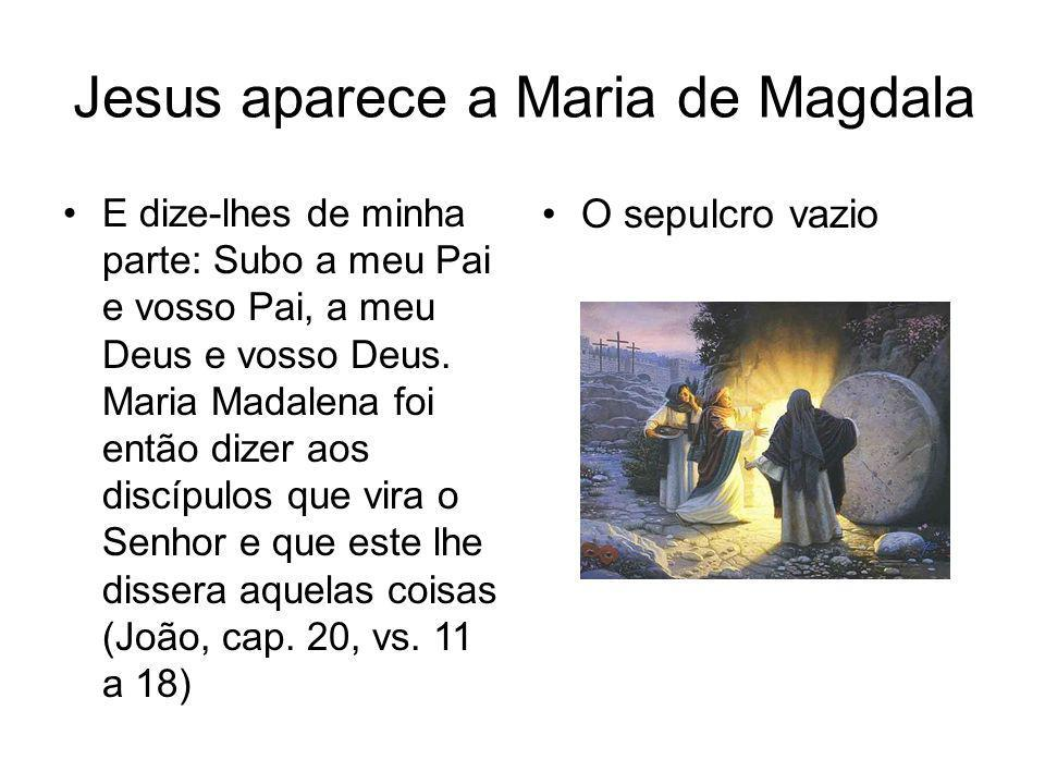 Jesus aparece a Maria de Magdala