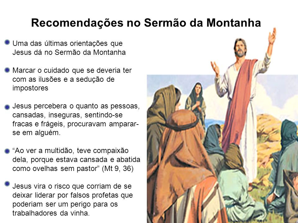 Recomendações no Sermão da Montanha