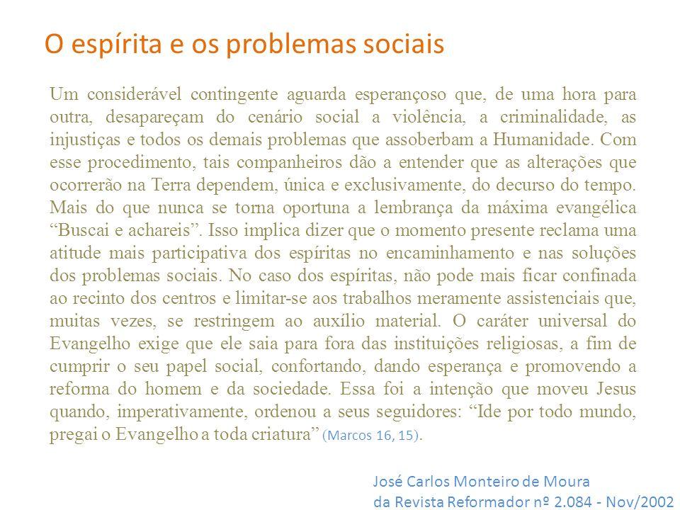 O espírita e os problemas sociais