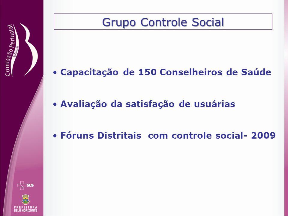 Grupo Controle Social Capacitação de 150 Conselheiros de Saúde