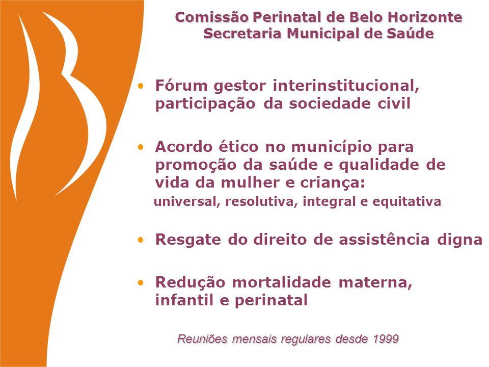 Comissão Perinatal de Belo Horizonte Secretaria Municipal de Saúde