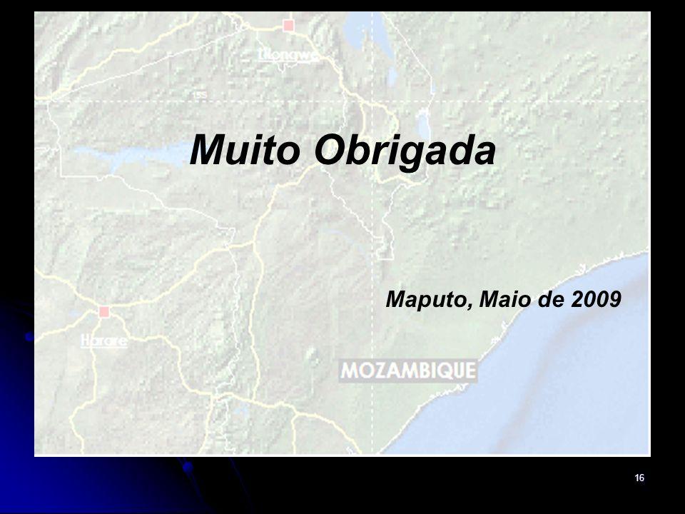 Muito Obrigada Maputo, Maio de 2009