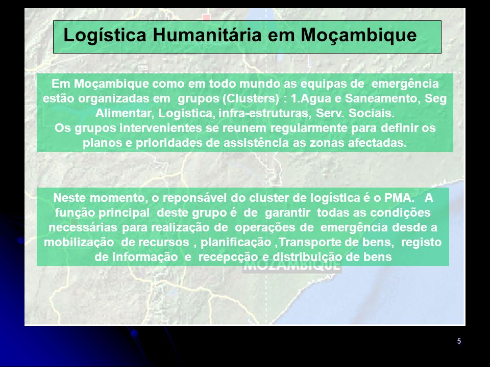 Logística Humanitária em Moçambique