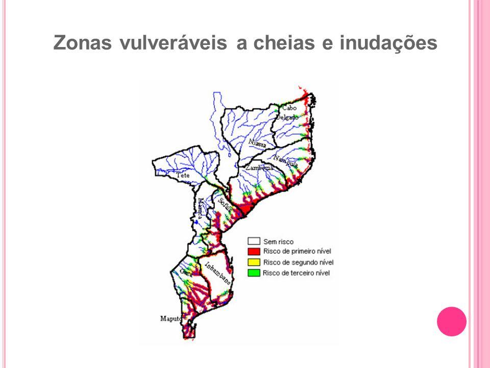 Zonas vulveráveis a cheias e inudações