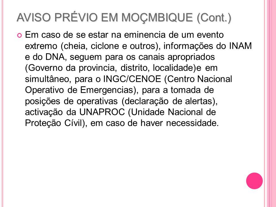 AVISO PRÉVIO EM MOÇMBIQUE (Cont.)