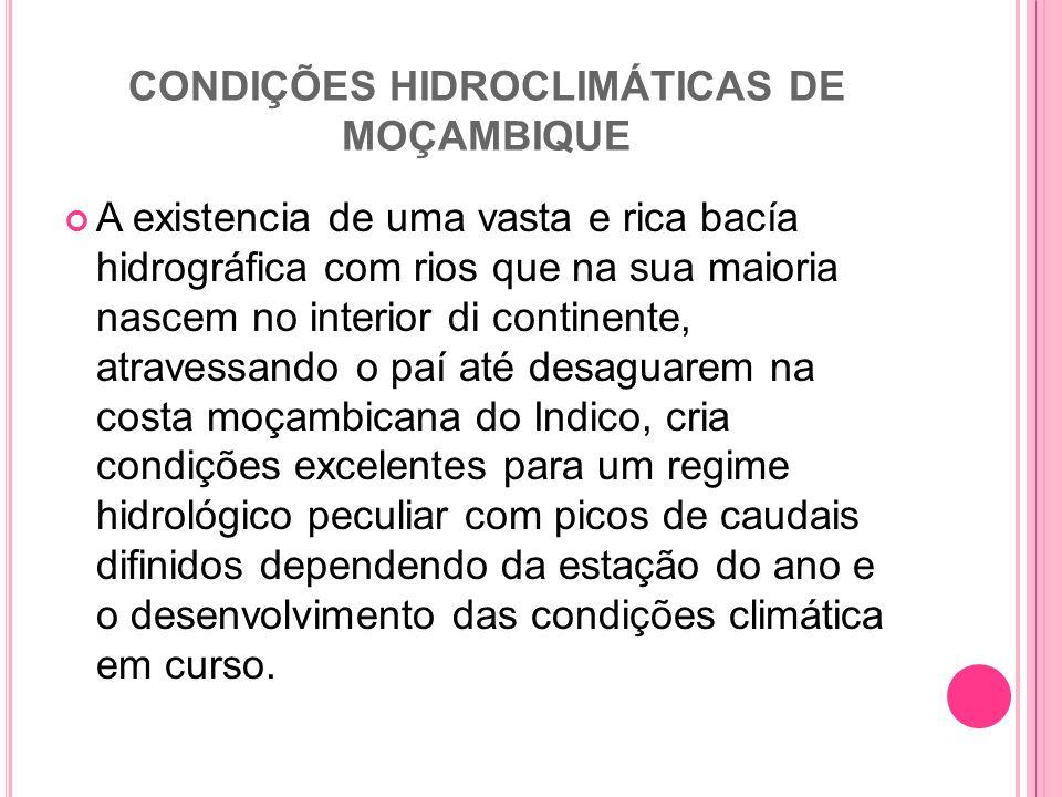 CONDIÇÕES HIDROCLIMÁTICAS DE MOÇAMBIQUE