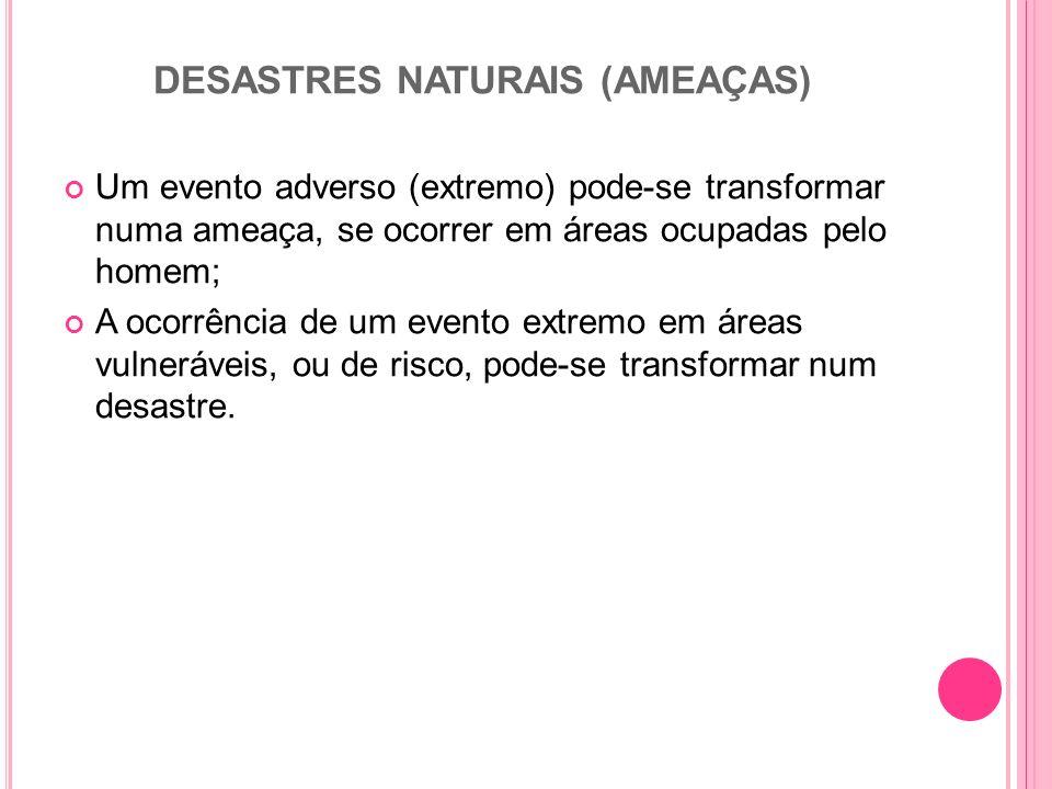 DESASTRES NATURAIS (AMEAÇAS)