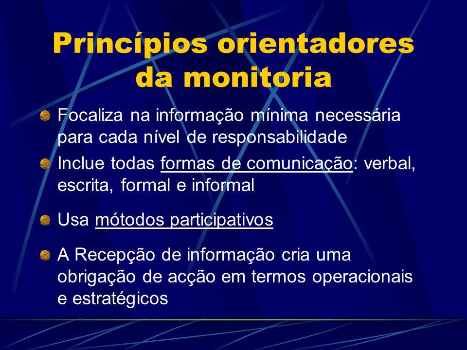 Princípios orientadores da monitoria