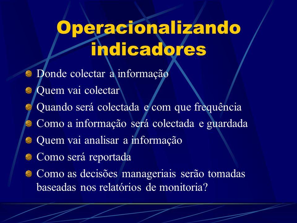 Operacionalizando indicadores