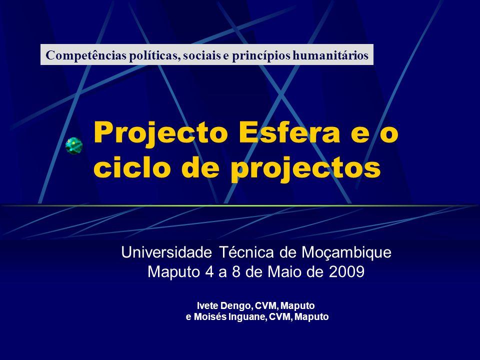 Projecto Esfera e o ciclo de projectos