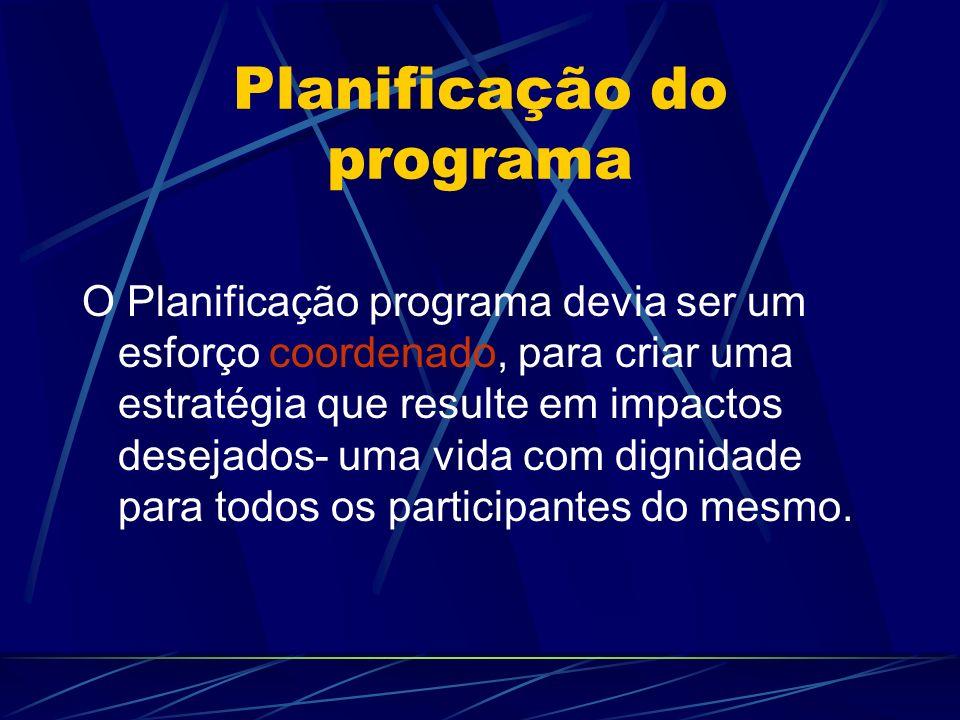 Planificação do programa