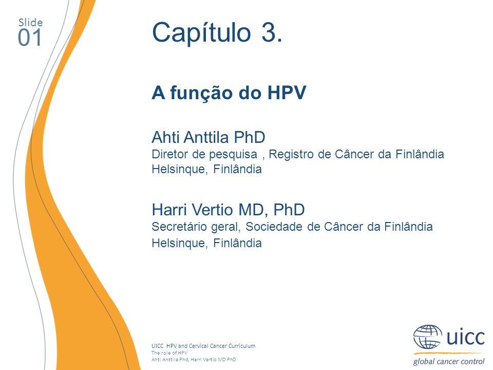 Capítulo 3. 01 A função do HPV Ahti Anttila PhD Harri Vertio MD, PhD
