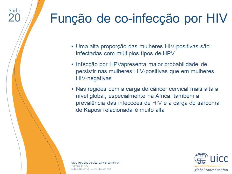 Função de co-infecção por HIV