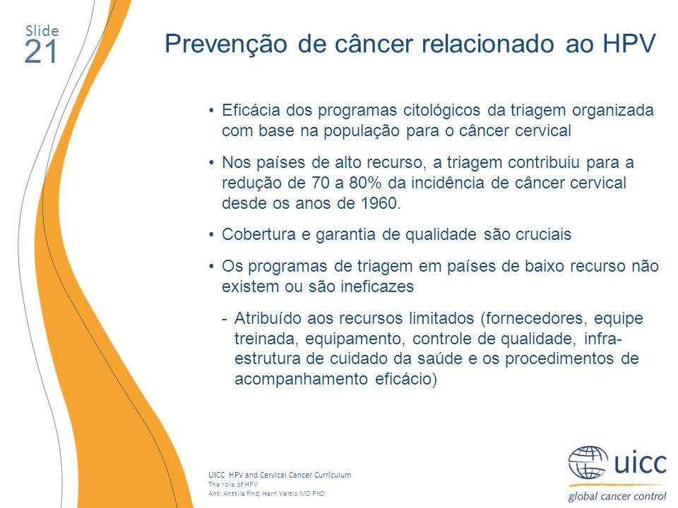 21 Prevenção de câncer relacionado ao HPV Slide