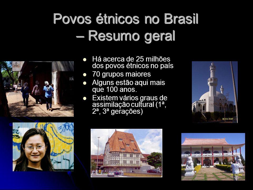 Povos étnicos no Brasil – Resumo geral