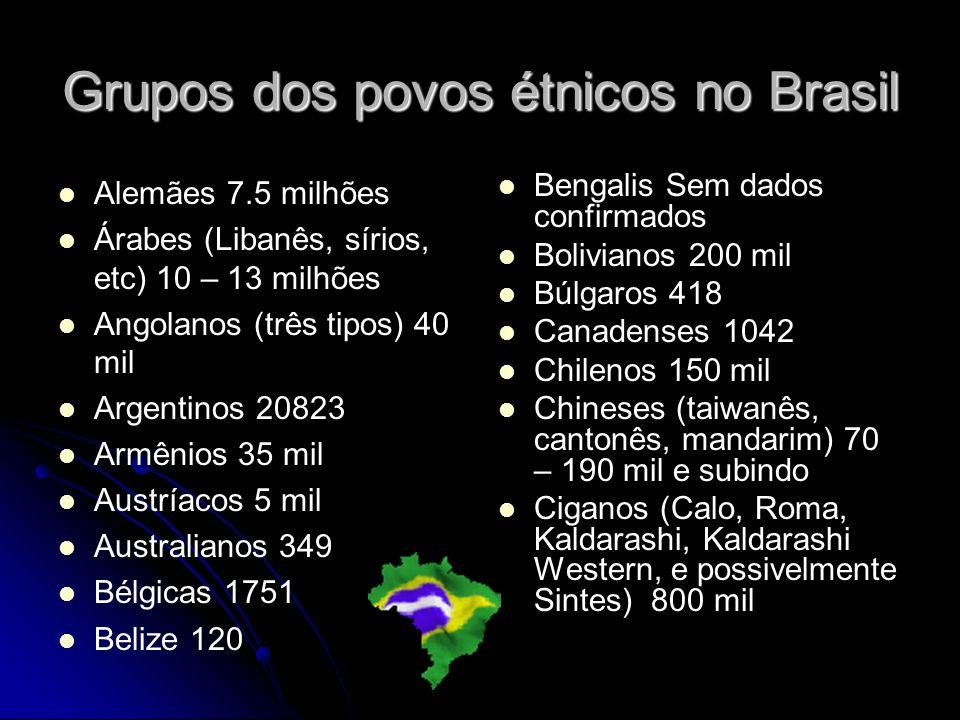 Grupos dos povos étnicos no Brasil