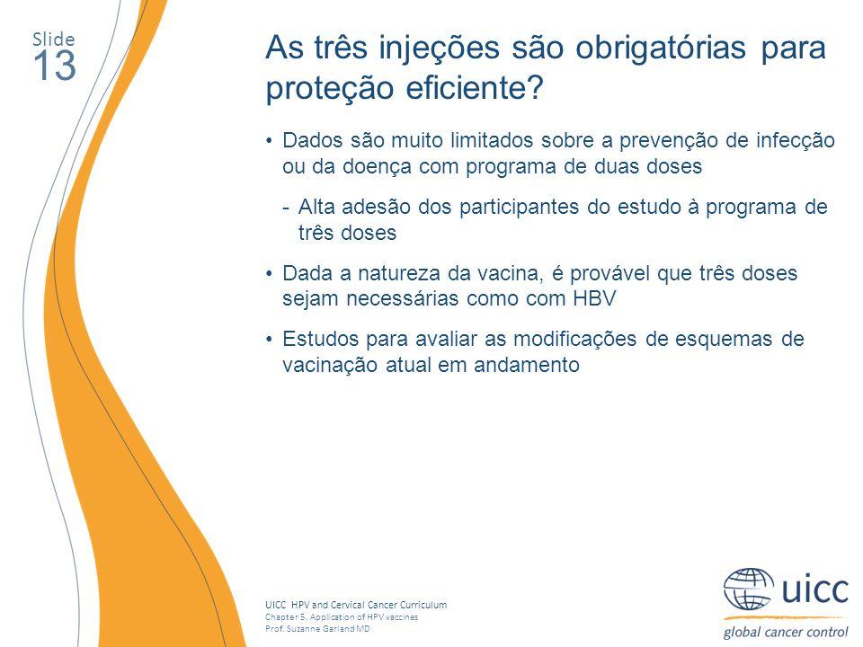 13 As três injeções são obrigatórias para proteção eficiente Slide