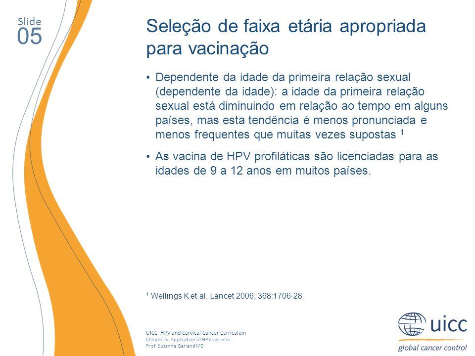 05 Seleção de faixa etária apropriada para vacinação Slide