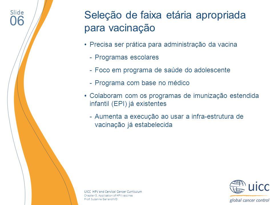 06 Seleção de faixa etária apropriada para vacinação Slide