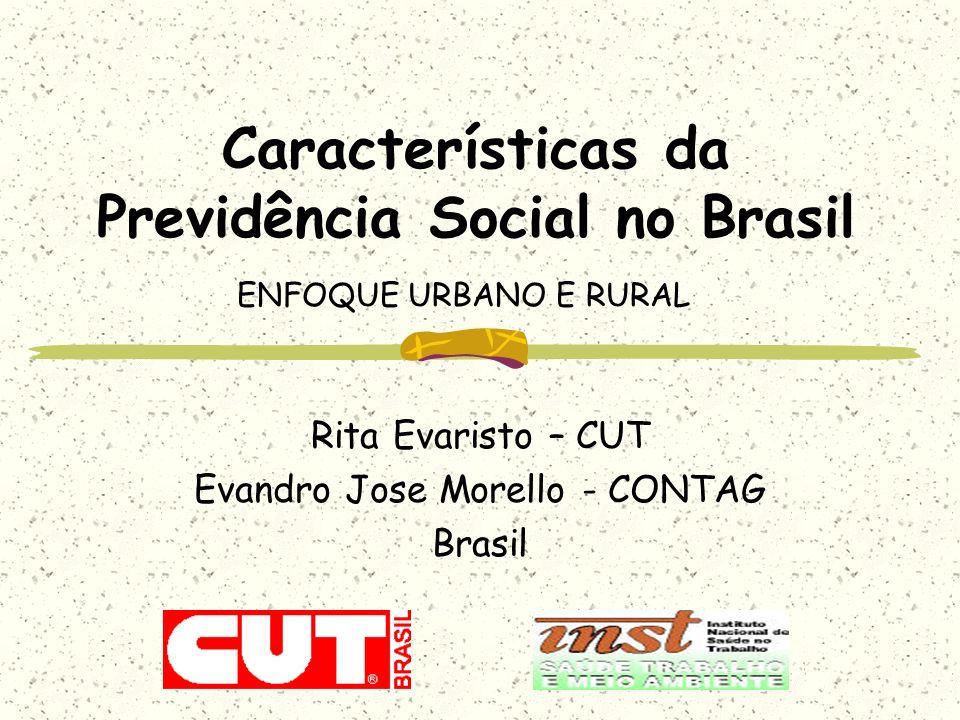 Características da Previdência Social no Brasil ENFOQUE URBANO E RURAL