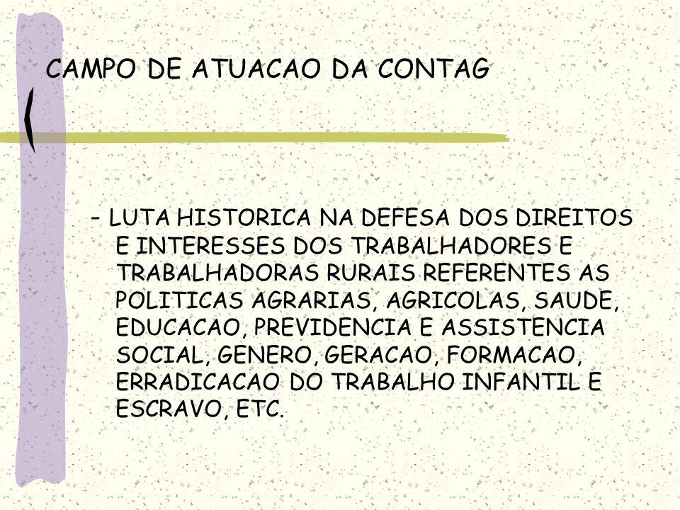 CAMPO DE ATUACAO DA CONTAG